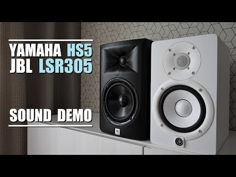 M audio av32 1 vs jbl lsr305 sound test doovi for Yamaha hs5 no bass