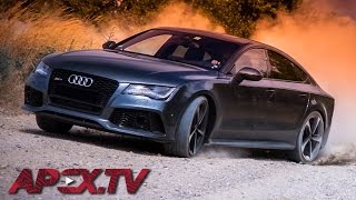 Porsche Killer: Audi RS7 0-300 km/h & Top Speed on Autobahn! - MAJO BÓNA / APEX.TV [ENG SUBTITLES]