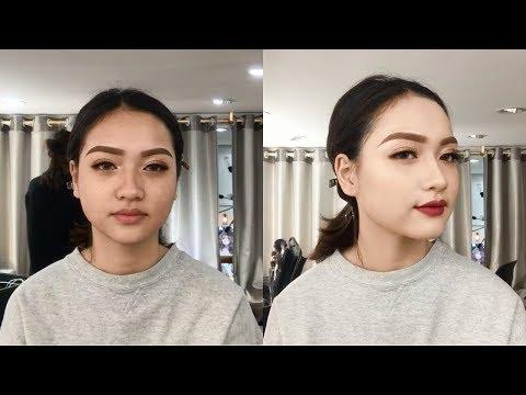 Transformation Makeup #15 - Glowing Maximal Makeup Asian Tutorial - Party Makeup - 동영상