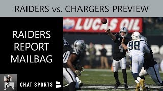Raiders vs. Chargers NFL Week 10 Preview, News, Rumors, Predictions Thursday Night Football Mailbag