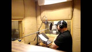 "Optikz in the booth at Studio A recording vocals for his upcoming new single ""Dark"" (Part 2)"