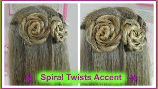 Spiral Twists Accent / Twist en Espiral / Bonita Hair Do