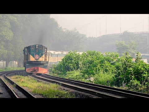 BR MG 2407 Loco Model MLW DL535A pulled Mohanganj Express Train spotted at Banani