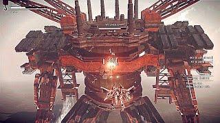 NieR Automata New Gameplay Boss Battle Full Demo (PS4, PC) 2017