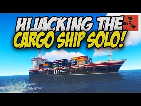 HIJACKING The CARGO SHIP As A SOLO PLAYER! - Rust Solo Survival Gameplay