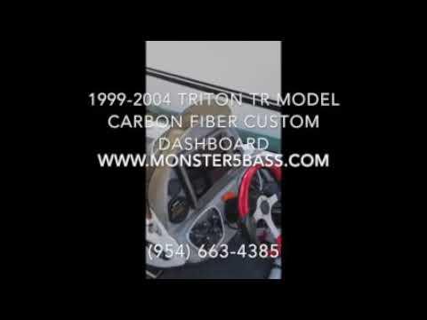 Triton Carbon Fiber custom Dashboard for Bass Boats