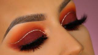 Burgundy eyeshadow makeup tutorial