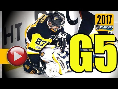 Nashville Predators vs Pittsburgh Penguins. 2017 NHL Playoffs. Stanley Cup Final. Game 5. (HD)