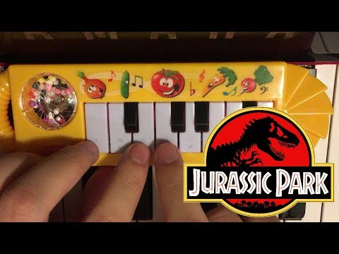 JURASSIC PARK THEME... but it's played on a $1 piano