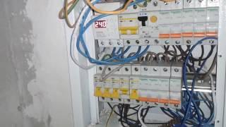 Замена проводки от застройщика (1-2х комнатная квартира)#2. Электромонтаж в Киеве.