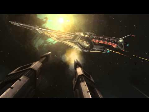 Elite: Dangerous trailer shows a battle between two massive spaceships