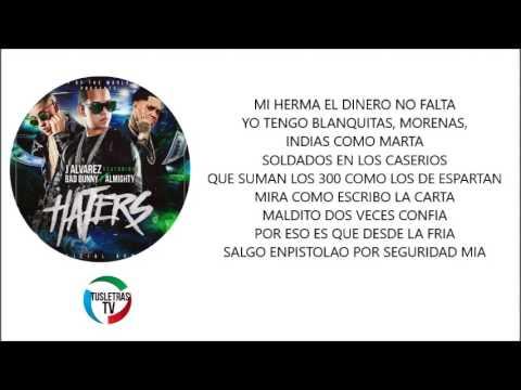 Haters Remix   J Alvarez Ft  Bad Bunny, Almighty OFICIAL REMIX LETRA