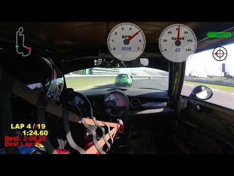 2017 SCCA Runoffs B-Spec Race at IMS--#04 Mini Cooper