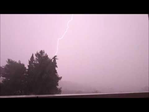 Béziers orage du Mardi 22 Novembre 2016