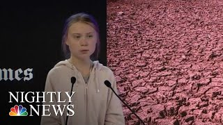 Trump Trades Jabs With Teenage Activist Greta Thunberg At Davos | NBC Nightly News