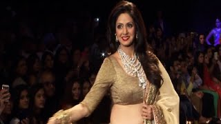 Sridevi's stunning ramp walk in low waist lehenga choli at iijw 2014.