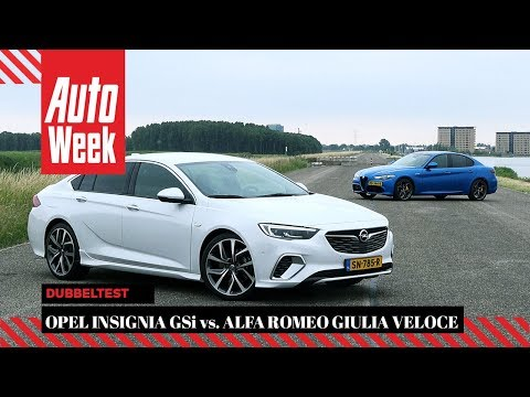 Opel Insignia GSi vs. Alfa Romeo Giulia Veloce - AutoWeek Dubbeltest - English subtitles