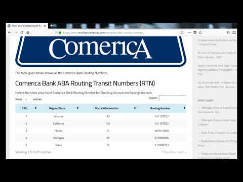 How To Find Comerica Bank Routing Number? - YouTube