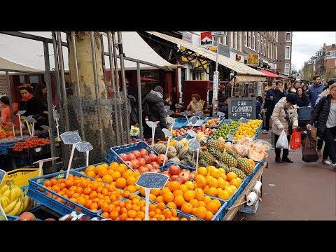 Unbelievable ORGANIC FOOD Market - NETHERLANDS FOOD in Amsterdam , De Pijp , Netherlands 4k