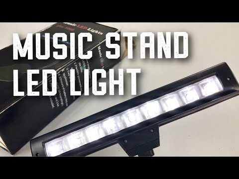 Lixada Flexible Bendable 9 LEDs Music Stand Clip Lamp Light Review