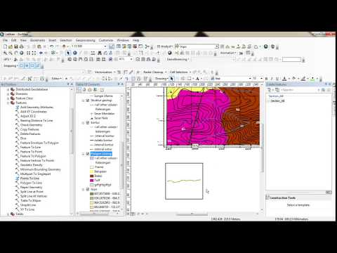 How to make geological map cros-section with ArcGIS