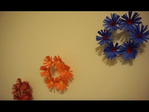 Wall Decor with Paper Flower and Bangles - YouTube