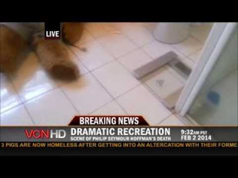 Philip Seymour Hoffman Tragic Death Scene Recreation