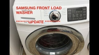 SAMSUNG FRONT LOAD WASHER ****UPDATE**** HD