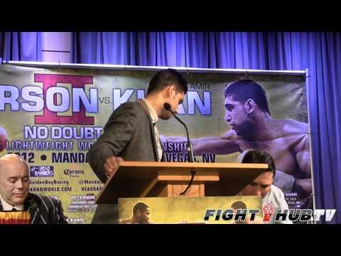 Lamont Peterson vs. Amir Khan 2: Los Angeles Press Conference Highlights
