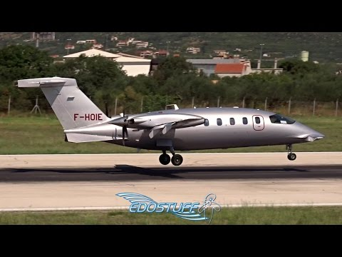 Piaggio P-180 Avanti II F-HOIE - Close-up Landing at Split Airport LDSP/SPU
