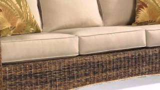 Seagrass Sofa-st. Kitts Collection - Wickerparadise.com