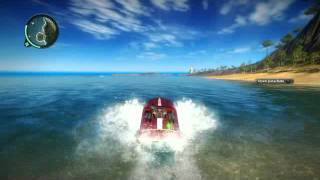Just Cause 2 speed boat jumping
