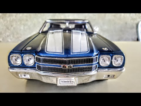 Welly 1/18  1970 Chevrolet Chevelle SS 454 in Fathom Blue review
