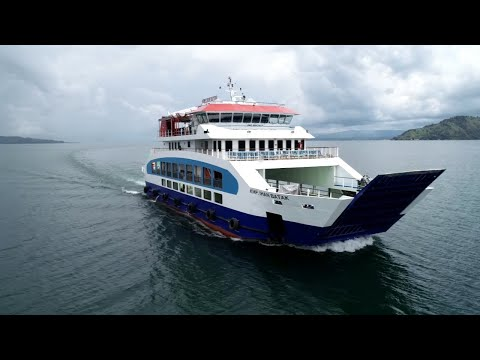 Sea Trial of KMP Ihan Batak, a Cruise Ferry for Lake Toba