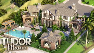 TUDOR MANOR || Luxury Celebrity Mansion || + FULL CC LIST || The Sims 4: Speed Build