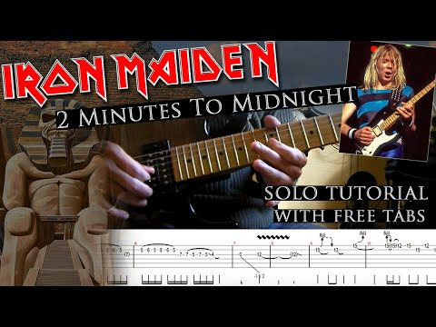 Iron Maiden - 2 Minutes To Midnight Dave Murray's Solo Lesson (with Tablatures And Backing Tracks)