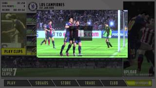 FIFA 14 - Ultimate Team Menu Design
