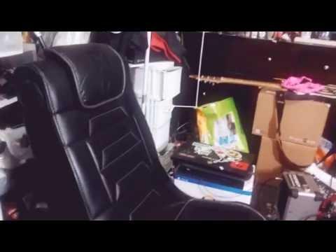 x rocker gaming chair hook up