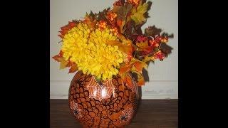Tangled Halloween/Autumn Pumpkin Vase