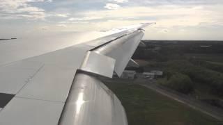 ANA 777-300ER Windy Tokyo Narita Airport Landing