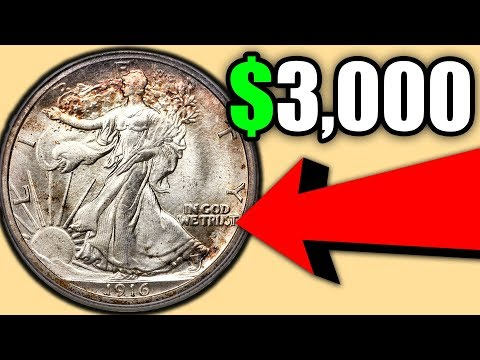 COIN PRICES FOR THE SILVER WALKING LIBERTY HALF DOLLAR COINS!! 1916 HALF DOLLAR VALUE