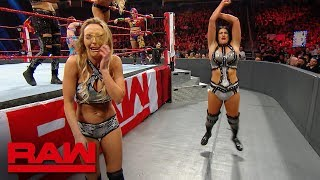 The IIconics melt down after Fatal 4-Way Match elimination: Raw Exclusive, Aug. 5, 2019