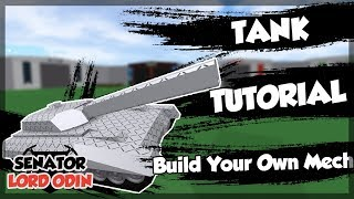 ROBLOX Build Your Own Mech : How To Make a Tank (GTA V - Khanjali)