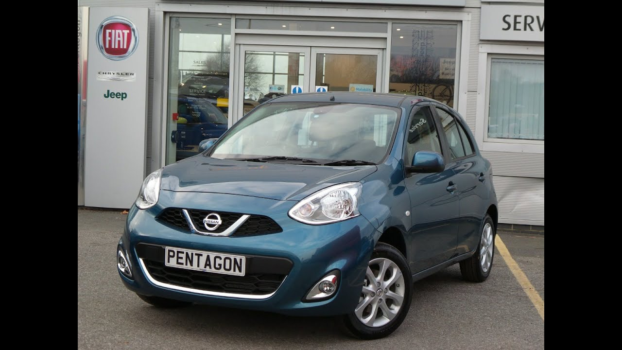 2016 65 nissan micra 1 2 acenta 5dr inc sat nav in blue youtube. Black Bedroom Furniture Sets. Home Design Ideas