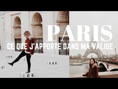 Ce que j'apporte dans ma valise | PARIS : mes essentiels applications et vêtements