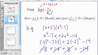 Saxon Algebra 2 - Lesson 102 - Sums and Products of Functions