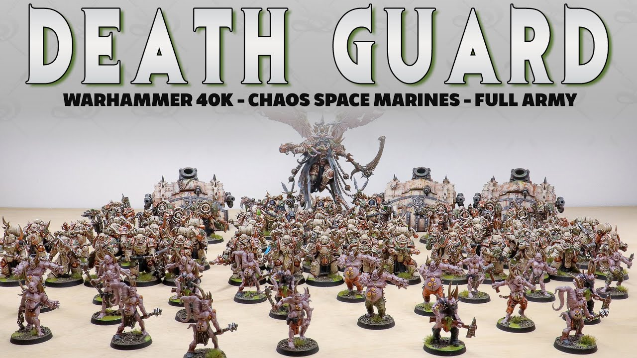 WARHAMMER 40K Death Guard Army *with MORTARION* Miniature Painting