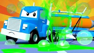 The Vaccum Truck - Carl the Super Truck - Car City ! Cars and Trucks Cartoon for kids