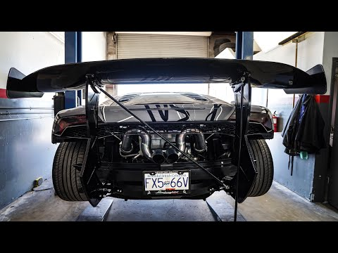 INSTALLING THE BIGGEST LAMBORGHINI CHASSIS MOUNT WING EVER MADE!