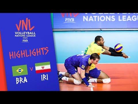 BRAZIL vs. IRAN -  Highlights Men | Week 2 | Volleyball Nations League 2019